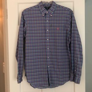 Ralph Lauren Blue and Pink Plaid Buttondown
